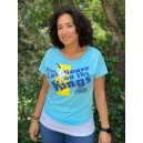 Women's Light Blue Eyebrows Memorial T-Shirt