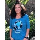 Women's Scoop Neck 3/4 Sleeve World Needs Love Tshirts