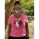 Ladies 2021 Health, Hope, Happiness V-Neck Bright Pink Shirt