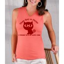 Ladies Big Eyed Cat Tank Top- Spay & Neuter