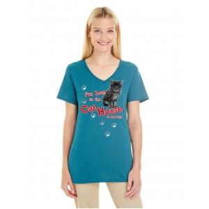 Retro Burnout V-neck T-Shirt
