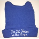 Blue Baby Beanie with embroidery and ears