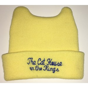 Yellow Baby Beanie with embroidery and ears
