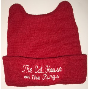 Red Baby Beanie with embroidery and ears