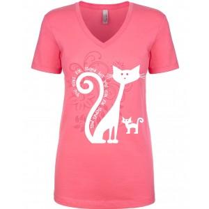 Light Pink Mom Cat Shirts