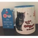 25th Anniversary Coffee Mug in Blue
