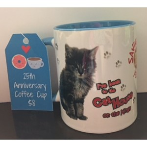 25th Anniversary Coffee Mug in Blue